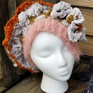 Hat Couture Funky Crochet Art Handmade